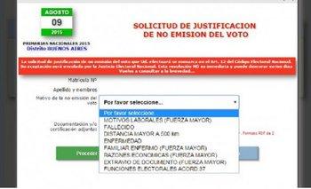 Si no votaste, ya podés justificar tu falta online | Justicia