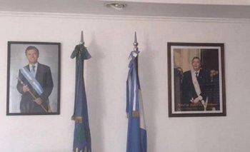 Insólito: un intendente peronista colgó en su despacho los cuadros de Kirchner y Macri | Mauricio macri