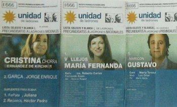 Denuncian que Cambiemos reparte boletas truchas de Cristina Kirchner para impugnar el voto | Unidad ciudadana