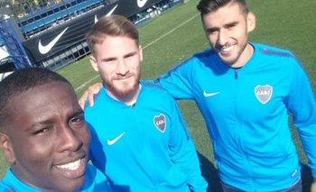 El particular detalle del nuevo jugador de Boca en las fotos | Boca juniors