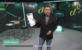 Pese a llamar a la producción, Macri no le dio la entrevista a Navarro  | Macri con navarro
