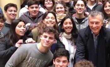 El gesto peronista que hicieron estudiantes en una foto con Macri | Elecciones 2019