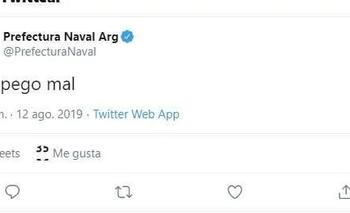 Hackearon la cuenta de Twitter de Prefectura Naval y difunden información privada | Hackeo