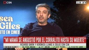 Ricardo Darín contó que hasta el último día le mintió a su madre sobre el Corralito   Crisis 2001