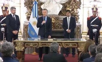 El insólito blooper de Macri en la jura de Lacunza | Macri presidente
