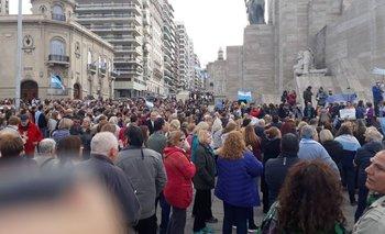 La imagen que muestra la baja convocatoria de Macri en Rosario por el 24A   Mauricio macri