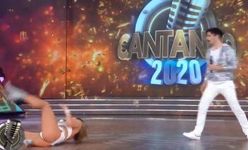 Grave caída de Adabel Guerrero en la pista del Cantando 2020   Televisión
