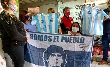 El acto solidario de Diego Maradona en medio de la pandemia | Coronavirus en argentina