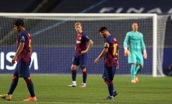 Messi, abatido: lapidaria imagen en el vestuario tras la derrota | Champions league
