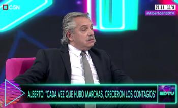 Alberto Fernández criticó a Macri por celebrar los banderazos | Alberto fernández