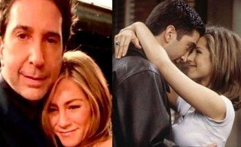 De Friends a la realidad: Jennifer Aniston y David Schwimmer estarían en pareja   Friends