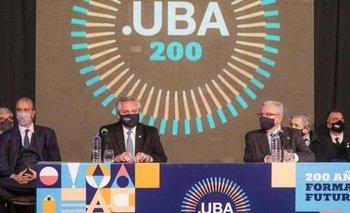 Alberto Fernández celebró los 200 años de la UBA   Aniversario de la uba