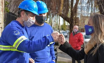 Galmarini inauguró una red cloacal que beneficiará a miles de vecinos enAvellaneda | Aysa