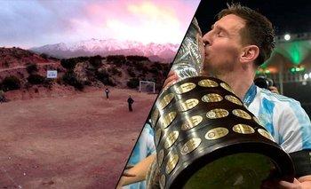 Hizo un estadio en honor a Messi en plena montaña y se hizo viral   Lionel messi