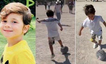 Mateo Messi la mueve como Lionel en las calles de París | Mateo messi