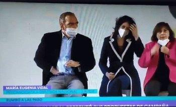 Fernando Iglesias y un asqueroso gesto en pleno acto de Vidal | Elecciones 2021
