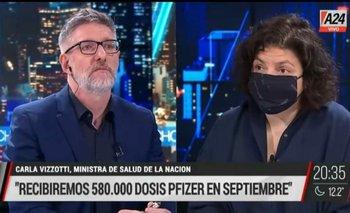 """Carla Vizzotti dejó sin argumentos a Novaresio sobre las vacunas: """"Es falso eso""""   Vacuna del coronavirus"""