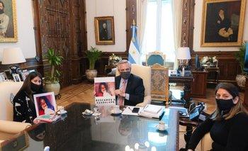 Alberto Fernández recibió a la familia de Guadalupe Lucero | Casa rosada