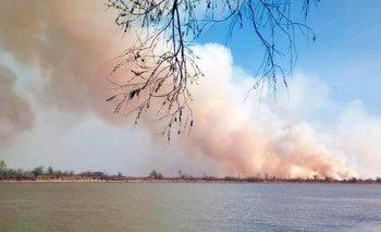 Fuerte olor a humo en varias ciudades por quemas en islas del Paraná   Incendio forestal