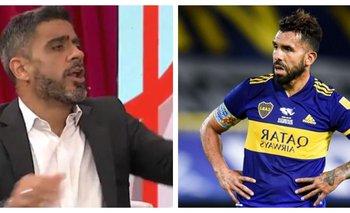 Contundente: El Negro Bulos destrozó al aire a Carlos Tevez   Federico bulos