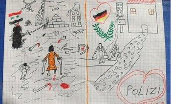 El conmovedor e impactante dibujo de un niño sirio que recorre el mundo   Refugiados