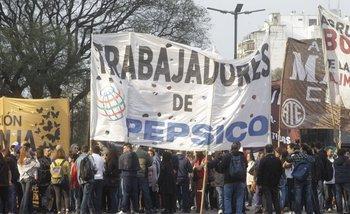 Trabajadores de Pepsico protestan en el Microcentro | Trabajo