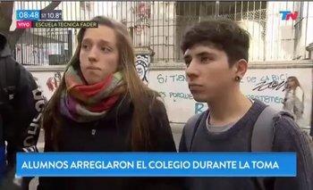 La lapidaria respuesta de los estudiantes que arreglaron su escuela que dejó offside al Gobierno porteño | Ciudad