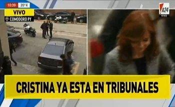 Insólita cadena nacional: TN y A24 persiguieron durante 20 minutos el auto de Cristina Kirchner | Comodoro py