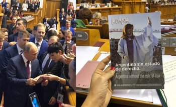 Mayra Mendoza le entregó a Putin un folleto denunciando la persecución a CFK | Rusia
