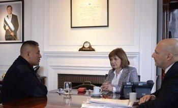 """Patricia Bullrich recibió otra vez al policía Luis Chocobar: """"Estamos a su lado""""    Doctrina chocobar"""