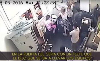 El video de la pareja de Avelluto vaciando Cultura | Escándalo
