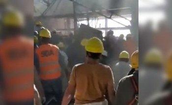 Derrumbe en Ezeiza: El obrero internado sigue en estado grave | Tragedia en ezeiza