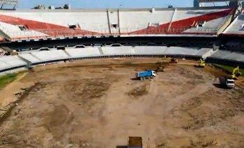 Sin césped ni pista de atletismo: así está el Monumental de River hoy   Fútbol