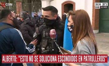 Tensión en vivo: prohíben a policía que hable con C5N | Policía bonaerense