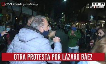 Protestas contra Lázaro Báez: agredieron a una periodista de C5N | Ataque a la prensa