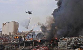 Beirut: se desata un enorme incendio en el mismo sitio de la explosión | Líbano