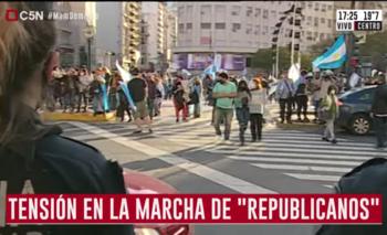 Volvieron a agredir a periodistas en el banderazo anticuarentena | Banderazo