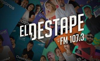 La programación de El Destape Radio FM 107.3 | ¡escuchanos!