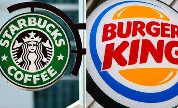 Burger King y Starbucks desmintieron que piensen irse del país  | Crisis económica