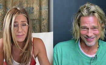 Brad Pitt y Jennifer Aniston coquetearon durante su reencuentro | En redes