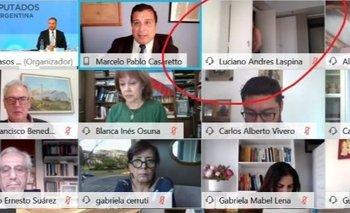 Insólito: Luciano Laspina se cambió en plena sesión y quedó registrado | En redes