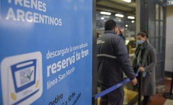 Para viajar en el Tren San Martín habrá que reservar el boleto | Coronavirus en argentina
