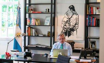 La historia del cuadro de Dylan en la oficina de Alberto Fernández | Alberto fernández