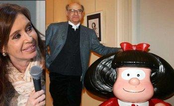 El homenaje de CFK a Quino por los 50 años de Mafalda | Recuerdo