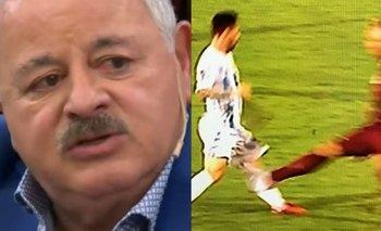 La bronca en vivo de Tití Fernández por el planchazo a Messi | Televisión
