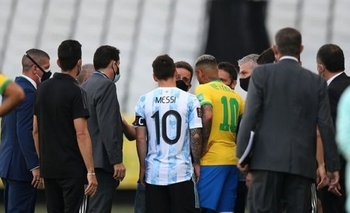 El video del momento en el que arrancó el papelón en Brasil vs Argentina | Papelón