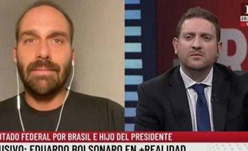 Viale entrevistó al hijo de Bolsonaro para atacar a Alberto | Jonatan viale