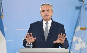 """Alberto, en la ONU: """"Nos sometieron a un acuerdo tóxico con el FMI""""   Deuda con el fmi"""