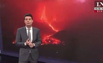 Insólito: LN+ comparó al Gobierno con el volcán en La Palma | Televisión