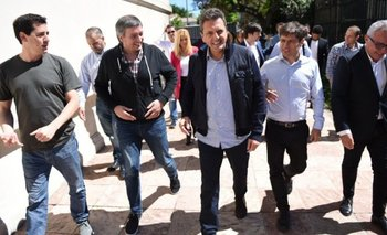 Máximo Kirchner, Kicillof y Massa se reunieron en la Casa Rosada | Frente de todos